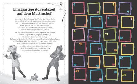 Bibi & Tina Adventskalender Kritzel-Kratzel-Buch: Kratzmotive mit tollen Farbeffekten Inhalt 1