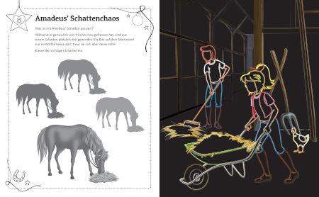 Bibi & Tina Adventskalender Kritzel-Kratzel-Buch: Kratzmotive mit tollen Farbeffekten Inhalt 2