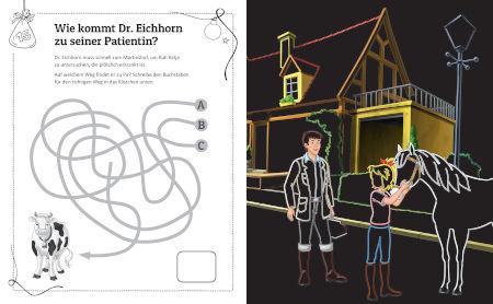 Bibi & Tina Adventskalender Kritzel-Kratzel-Buch: Kratzmotive mit tollen Farbeffekten Inhalt 3