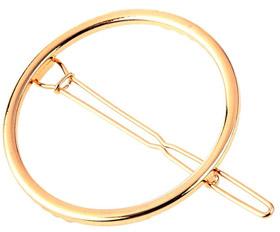 Haarspange Gold rund