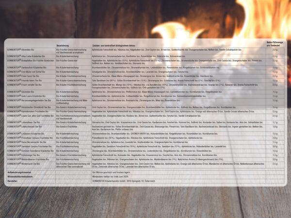 Inhalt Adventskalender