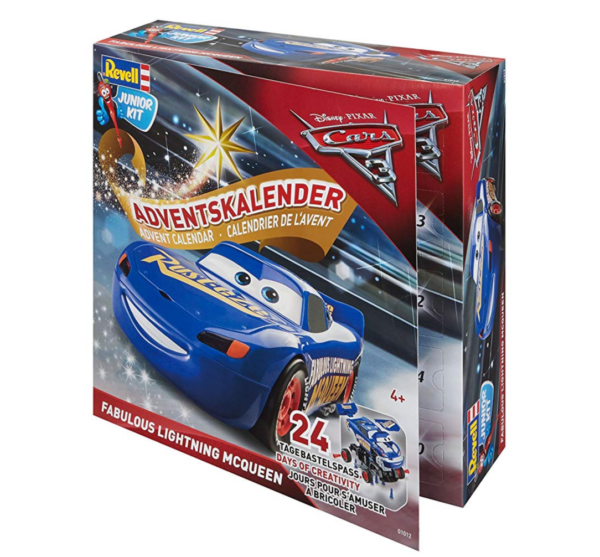 amazon Adventskalender Cars Lightning McQueen blau