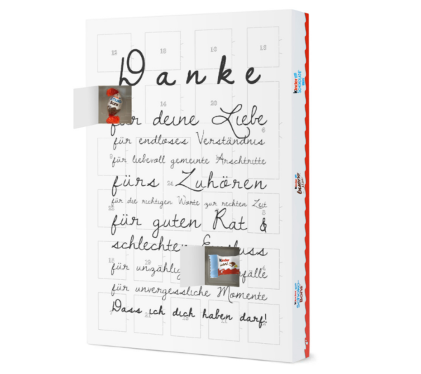 Danke Adventskalender Artboxone Kinder