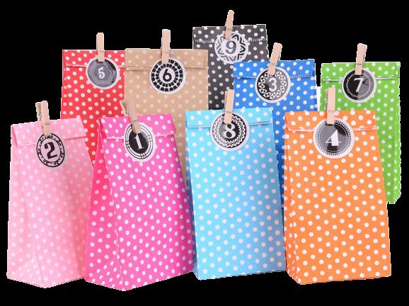 amazon EKKONG Adventskalender Tüten zum Befüllen