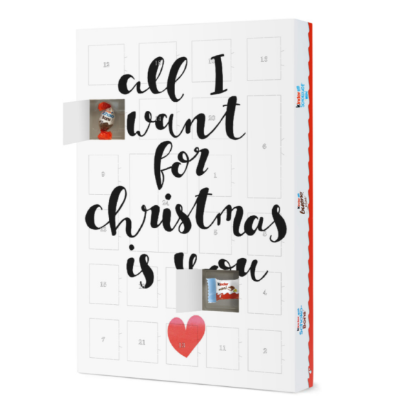 All I want Adventskalender artboxone Kinder artboxone