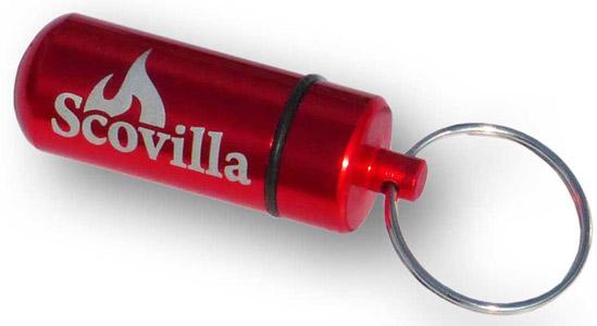 Trinidad Scorpion Moruga Chilo Pulver als Schlüsselanhänger