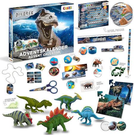 CRAZE Adventskalender Dinorex 33401 Inhalt