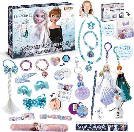 CRAZE ADVENTSKALENDER Frozen II Spielzeugkalender Inhalt