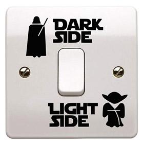 Star Wars Aufkleber Lichtschalter