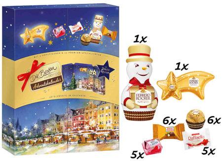 Inhalt Die Besten von Ferrero Hohlfiguren Adventskalender