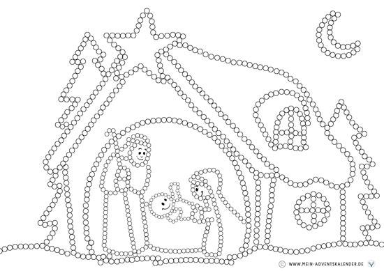 Dot Painting mit Zahnstochern für  Kinder - Krippe