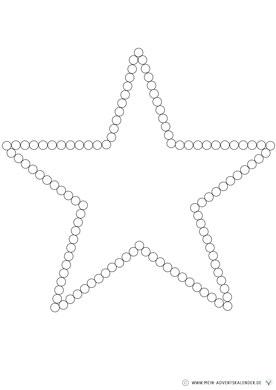 Dot Painting Kleinkinder Stern