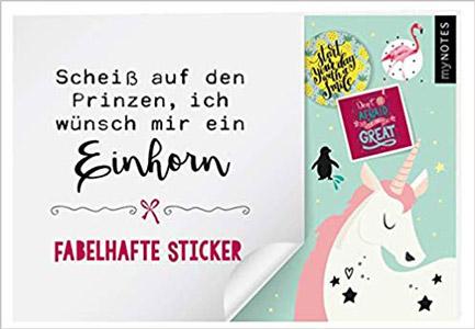 myNotes Einhorn Sticker
