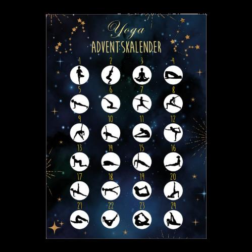 Yoga Adventskalender mit Rubbelsticker Inhalt