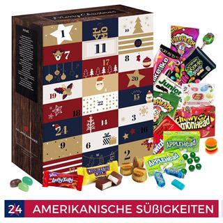 Adventskalender amerikanische Süßigkeiten 2017