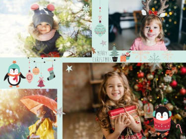 Fotopuzzle Merry Christmas Collage
