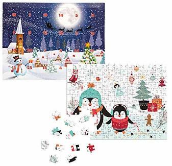 Fotopuzzle Pinguin Adventskalender