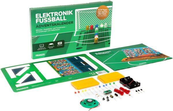 Franzis Elektronik-Fußball 2021 Inhalt