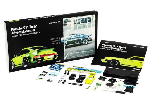 Franzis 55109-2 Adventskalender Porsche 911 Turbo Inhalt