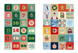 Wanddekoration Adventskalender 2017