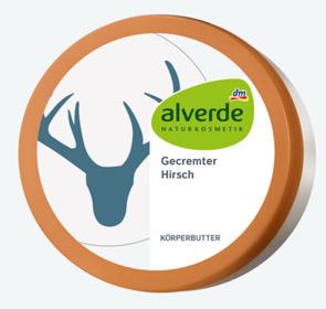 Alverde Creme personalisiert mit Hirsch