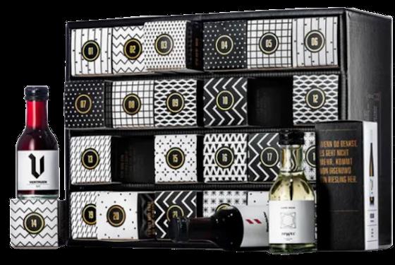 Geile Weine Weinmini Adventskalender X-Mas Special mit Gin