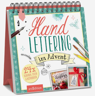 Kreativer Adventskalender Handlettering im Advent