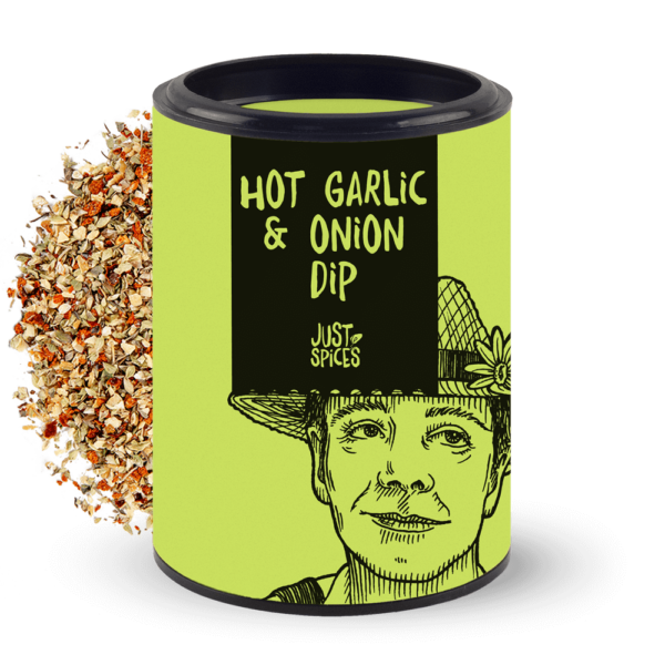 Just Spices Dose Hot Garlic & Onion Dip 2021