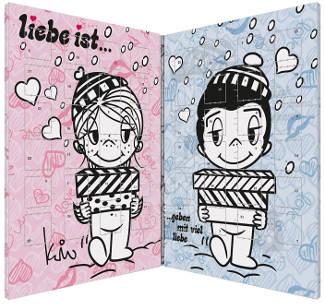 Liebe ist Schoko Herzen Adventskalender