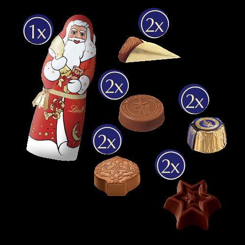 Inhalt Lindt Weihnachts-Zauber Adventskalender