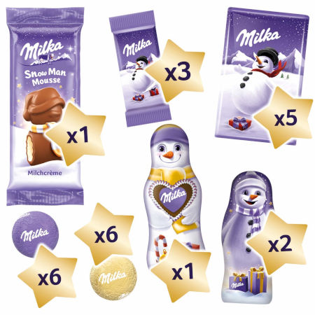 Inhalt Milka Snowmix Adventskalender 2020