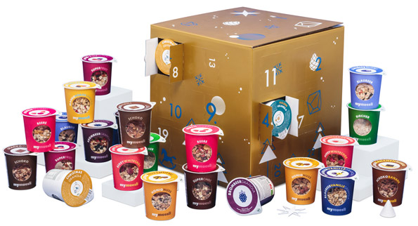 mymuesli Adventskalender 2018 - to go - Inhalt