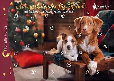 Weihnachtskalender Für Hunde.Nanook Hansepet Adventskalender Für Hunde Ohne Künstliche Geschmacksstoffe 175 G Gebäck
