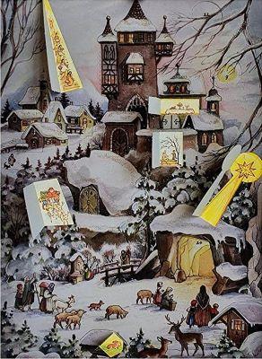 """Nostalgischer Adventskalender """"An der Burg"""" Inhalt"""