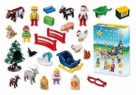 Inhalt Playmobil 1.2.3 Adventskalender Weihnacht auf dem Bauernhof