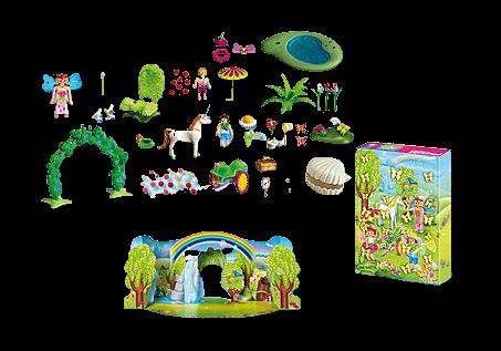 Playmobil 4158 - Adventskalender Einhorn im Feenland Inhalt