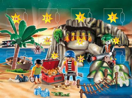 Playmobil 4164 - Adventskalender Piraten-Schatzhöhle Inhalt