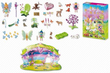 Inhalt Playmobil Adventskalender Einhorngeburtstag im Feenland