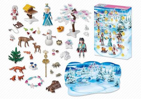 Inhalt PLAYMOBIL Adventskalender Eislaufprinzessin im Schlosspark