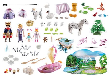 Inhalt PLAYMOBIL Adventskalender Königliches Picknick im Park