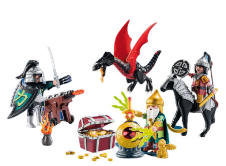 Inhalt PLAYMOBIL Adventskalender Kampf um den Drachenschatz