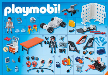 Inhalt Playmobil Adventskalender Spy Team Werkstatt