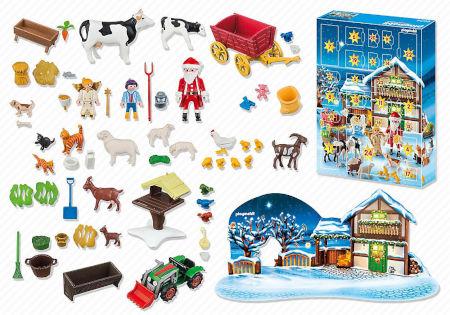 Inhalt PLAYMOBIL Adventskalender Weihnacht auf dem Bauernhof