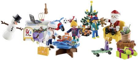 Inhalt PLAYMOBIL Adventskalender Weihnachten im Spielwarengeschäft