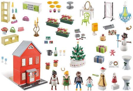 Inhalt PLAYMOBIL Großer Adventskalender Weihnachten im Stadthaus