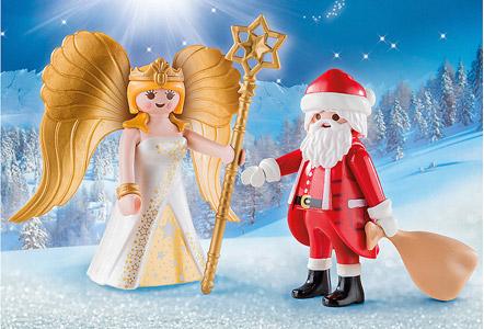 Playmobil Weihnachtsmann und Engel