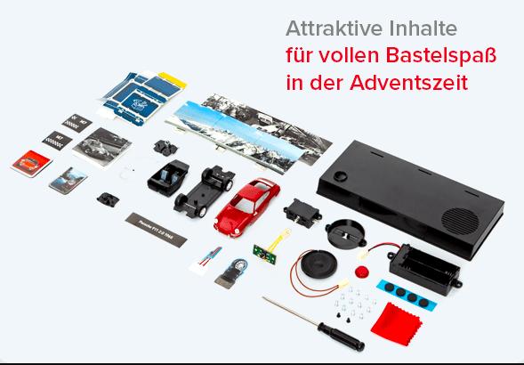 Franzis Porsche 911 Adventskalender 2021 - Inhalt