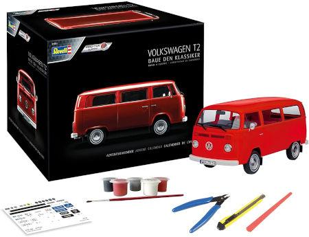 Revell 1034 Adventskalender Volkswagen VW T2 Bus Inhalt