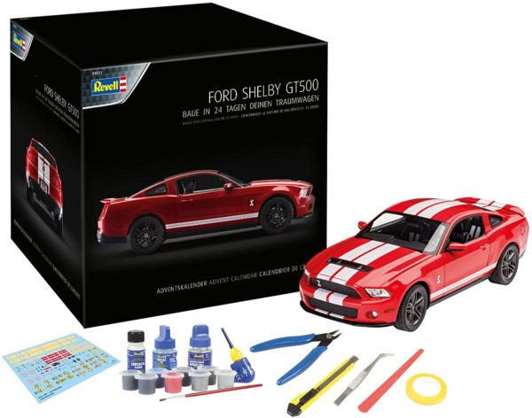 Inhalt Revell Adventskalender Dream Cars Ford Shelby
