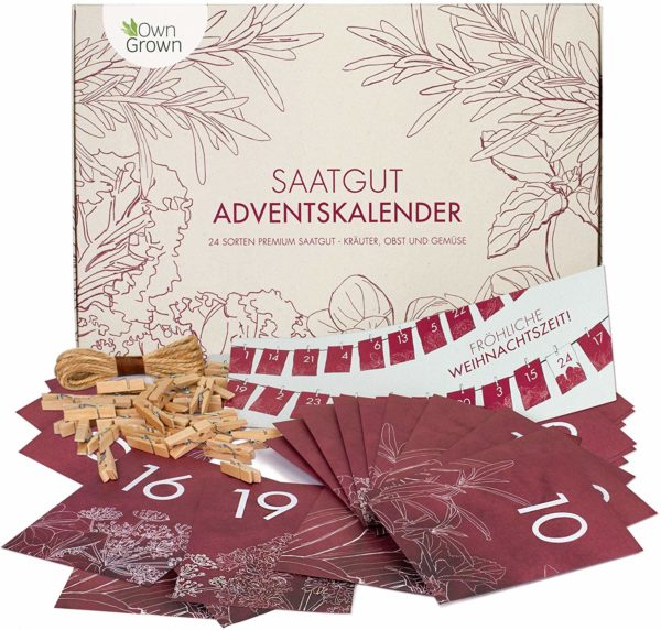 Saatgut Adventskalender DIY